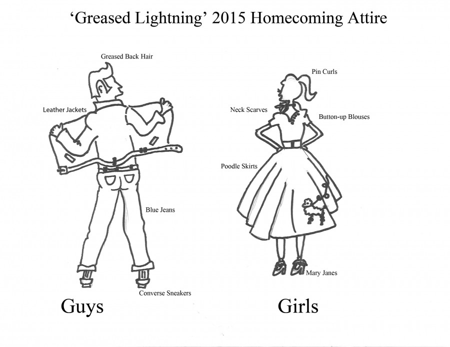 Although many did not dress to this years theme, heres what Grease Lightning looked like.