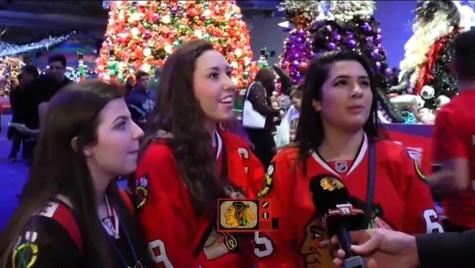 Senior Larissa Brown, junior Delaney Appelhans and sophomore Gigi Scibetta being featured in one of BHTVs videos.