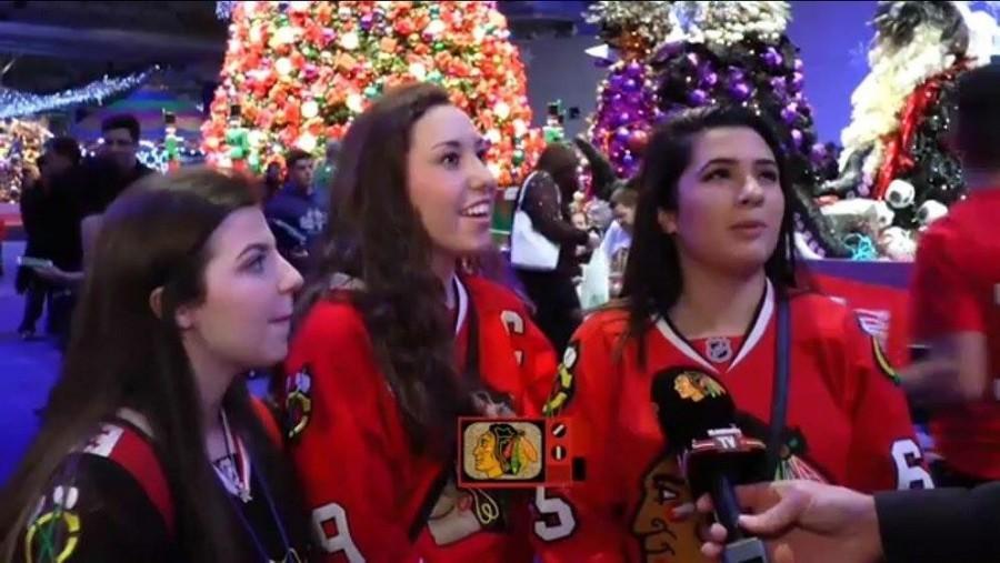 Senior Larissa Brown, junior Delaney Appelhans and sophomore Gigi Scibetta being featured in one of BHTV's videos.
