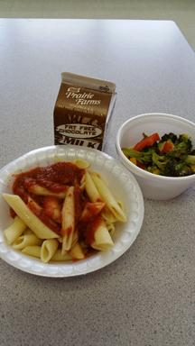 A normal meal served at MHS.