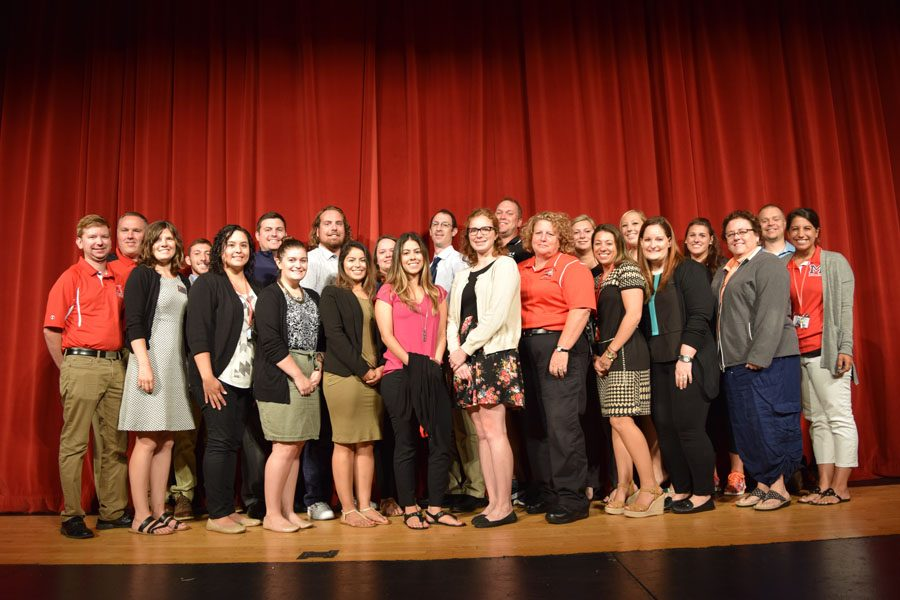 New staff members at MHS come together at the beginning of the 2016-2017 school year.