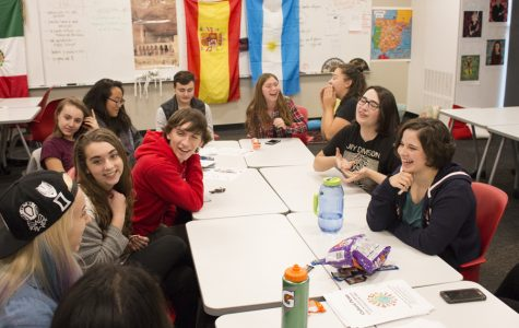Diversity Club members discuss the outcome of the 2016 Presidential Election, and plan for their upcoming Cultural Picnic.