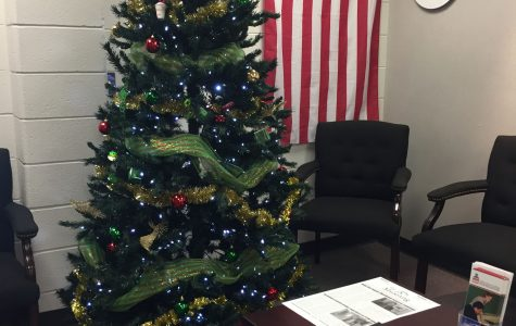 MHS's front office features a Christmas tree this time of year. There is also a menorah located in the attendance office.