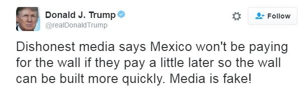 screenshot courtesy of Donald Trumps Twitter