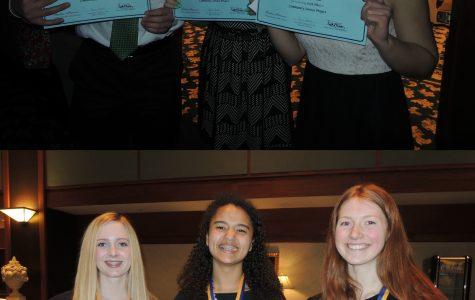 FBLA seniors showcase their awards. Photos submitted by Adriana Feijoo.