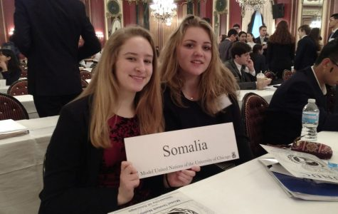 Seniors Lucy Renz and Jessica Peterson represented Somalia at the 2016 convention. Photo submitted from yearbook.