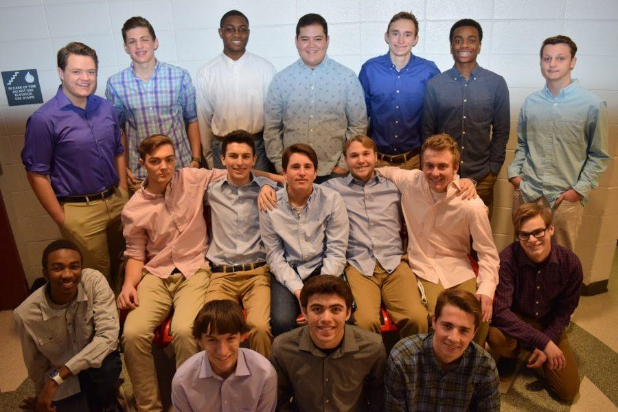 Mr Mustang candidates during one of their rehearsals.