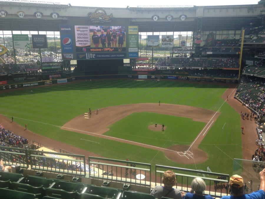 Miller Park in Milwaukee, prior to the Cubs taking on the Brewers on Labor Day 2016.