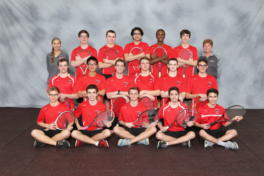 Varsity boys tennis team photo courtesy of VIP.