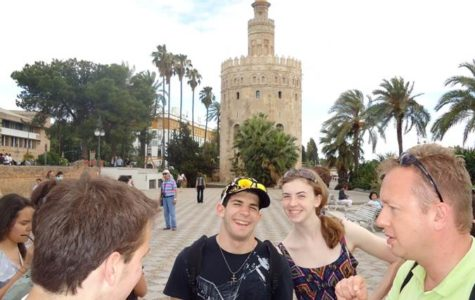Former MHS students visit Seville, Spain on a trip in 2011.
