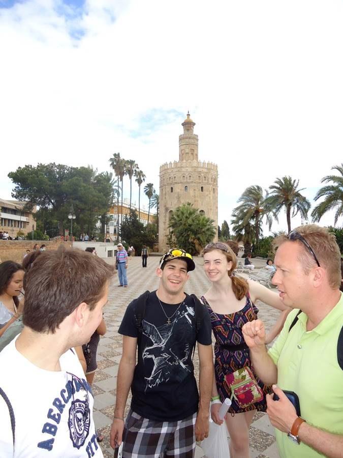 Former MHS students visit Seville, Spain on a trip in 2011.