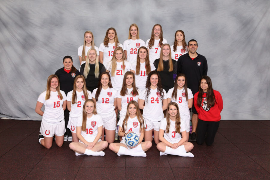 Girls varsity soccer team photo courtesy of VIP.