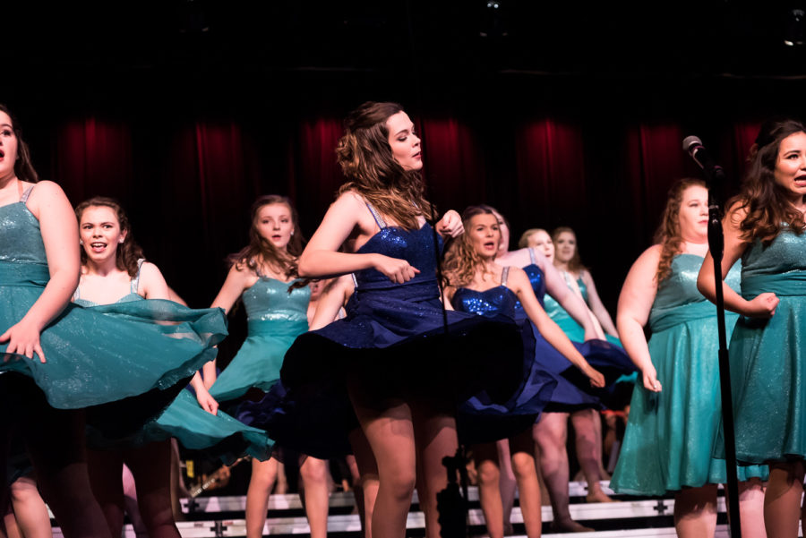 MHS Show choir performing on January 20. Photo by VIP.