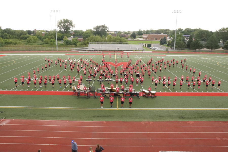 Marching+Mustangs+show+of+2017+routine+at+band+camp.+
