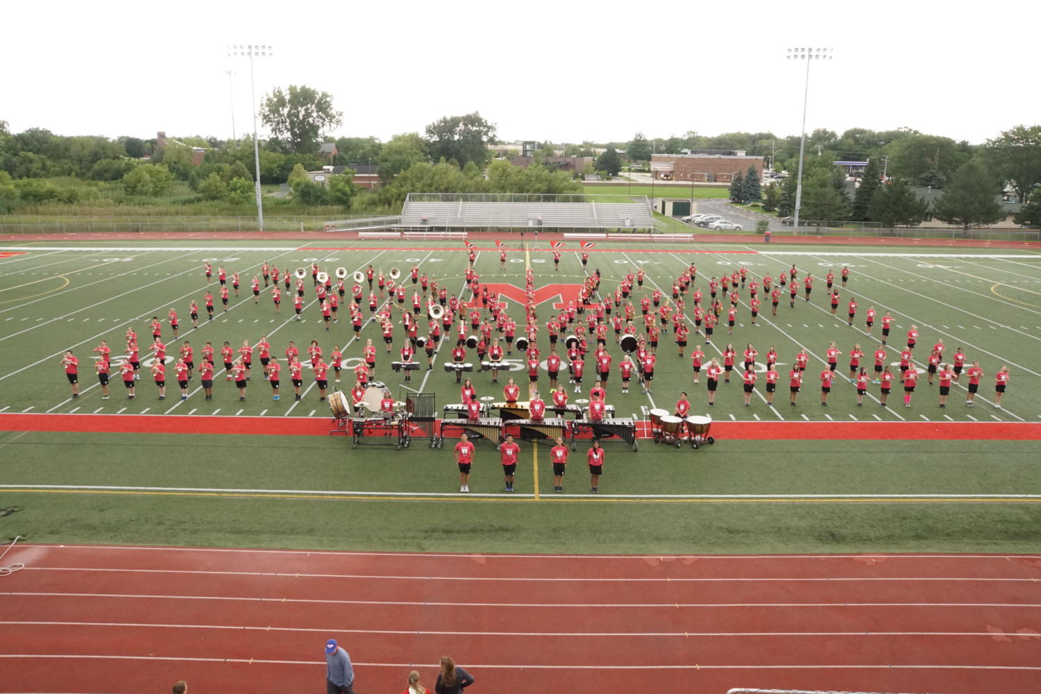 Marching Mustangs show of 2017 routine at band camp.