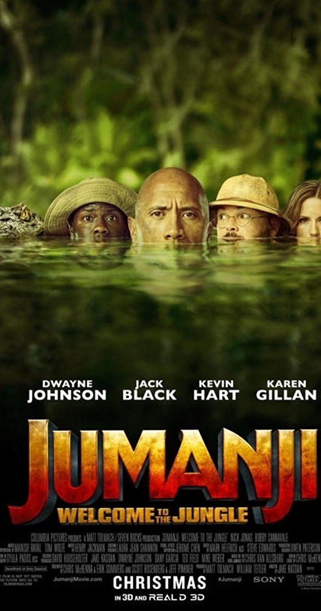 Above is the Jumanj movie poster