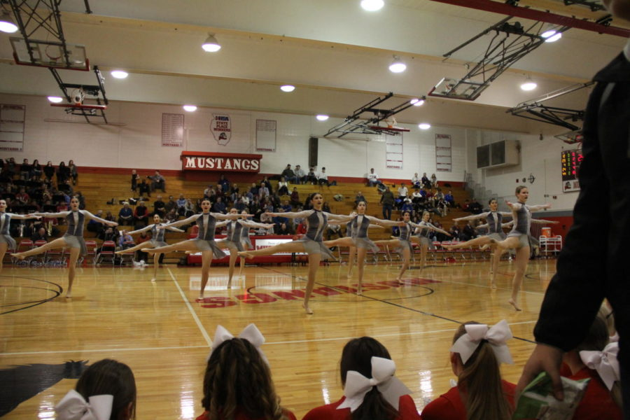 The+Varsity+Dance+team+performs+at+a+competition+on+Jan.+24th.++