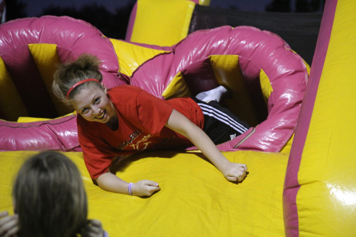 An MHS student enjoys herself at the back to school bash that MHS held on Aug. 17.