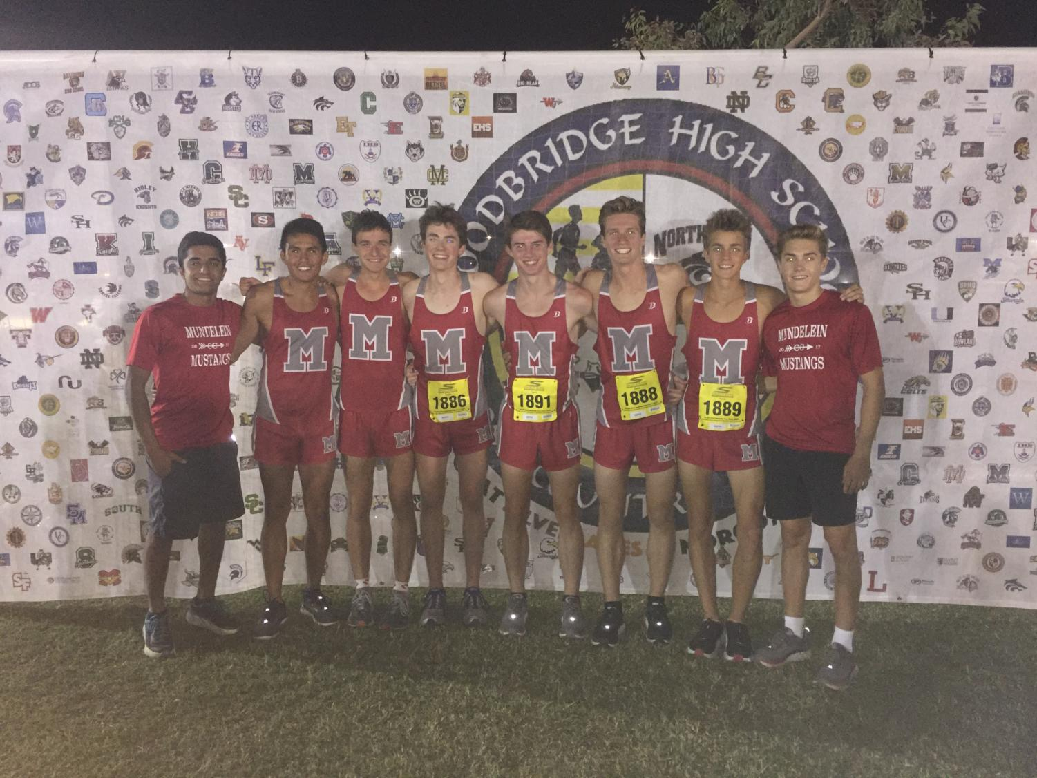 Pictured are the 8 Varsity Cross Country runners that ran at the prestigious meet in California.