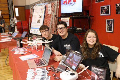 The MHS Broadcast Team consisting of Ayden Boudreaux, junior; Gabriel Goldman, senior; and Bri Sierzega, senior welcome all students to join and experience the behind the scenes action of the 'Friday Focus' on 2024 night.
