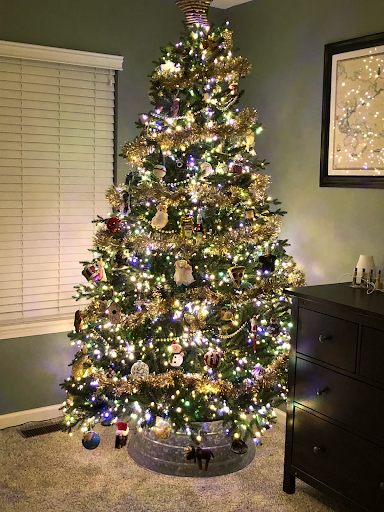 Spanish Teacher Jenna Lumsden has remained festive during the COVID-19 pandemic this 2020 holiday season by decorating her Christmas tree.