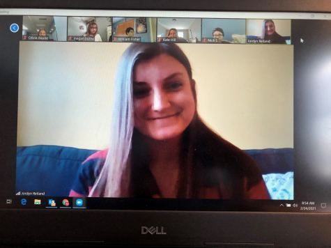 "Jordyn Reiland, from the MHS class of 2011, joined a Zoom call with The Mustang journalism staff as a guest speaker on Feb. 24. She gave her honest perspective about being a professional journalist. She said, ""I have to learn as I go."""