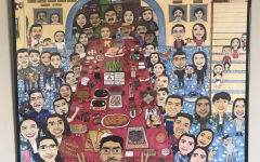 Senior Brian Carranza created this art piece to honor his family's unity.