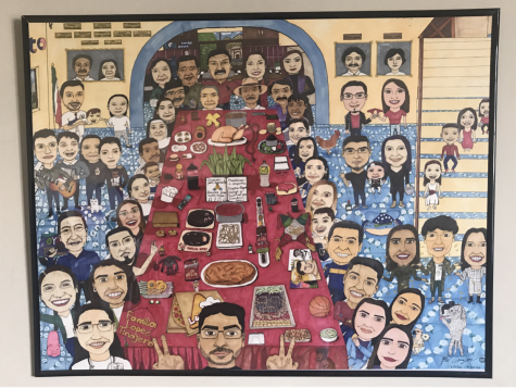 Senior Brian Carranza created this art piece to honor his family